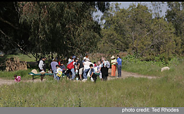 Across From Andrea's Wildflower Station, Students Learn About The Chumash People That Once Lived Here In Abundance.